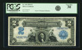 Large Size:Silver Certificates, Fr. 249 $2 1899 Silver Certificate PCGS Very Fine 30.. ...