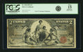 Large Size:Silver Certificates, Fr. 248 $2 1896 Silver Certificate PCGS Fine 15 Apparent.. ...