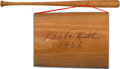 Autographs:Bats, 1926 Babe Ruth Signed Bat, PSA/DNA Mint 9....