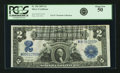 Large Size:Silver Certificates, Fr. 256 $2 1899 Silver Certificate PCGS About New 50.. ...