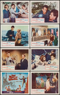 "Movie Posters:Adventure, That Man in Istanbul (Columbia, 1966). Lobby Card Set of 8 (11"" X14""). Adventure.. ... (Total: 8 Items)"
