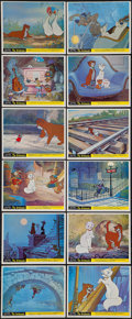 """Movie Posters:Animation, The Aristocats (Walt Disney Productions, 1971). British Front ofHouse Mini Lobby Card Set of 12 (8"""" X 10""""). Animation.. ... (Total:12 Items)"""