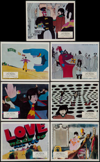 """Yellow Submarine (United Artists, 1968). British Front of House Color Photos (7) (8"""" X 10""""). Animation. ... (T..."""