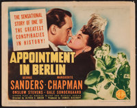 """Appointment in Berlin (Columbia, 1943). Title Lobby Card (11"""" X 14""""). War"""