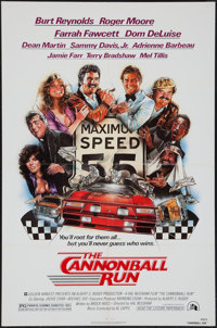 """The Cannonball Run & Others Lot (20th Century Fox, 1981). One Sheets (110) (approx. 27"""" X 41""""), Lobby..."""