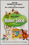 "Movie Posters:Animation, Robin Hood & Others Lot (Buena Vista, 1973). One Sheets (8)(27"" X 41""), Lobby Card Set of 9 (11"" X 14""), Presskit (12 Pages...(Total: 26 Items)"