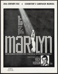 """Movie Posters:Documentary, Marilyn & Other Lot (20th Century Fox, 1963). Uncut Pressbooks (3) (8 Pages, 13"""" X 16.5"""") & Exhibitor's Sheets (2) (13"""" X 16... (Total: 5 Items)"""
