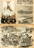 Books:Prints & Leaves, [Harper's Weekly]. Group of Covers and Leaves from Harper'sWeekly Magazine, 1858-1881. ...