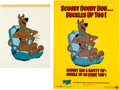 Animation Art:Production Drawing, Scooby-Doo PSA Illustration Original Art and Poster(Hanna-Barbera/National Safety Council, 1984).... (Total: 2 Items)