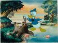 Animation Art:Production Cel, Donald Duck's Fountain of Youth Donald Duck Production Celwith Terrytoons Background (Disney/Terrytoons, 1953).... (Total: 2Items)