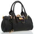 Luxury Accessories:Bags, Chloe Black Leather Paddington Bag with Brass Hardware. ...