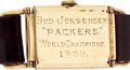 """Football Collectibles:Others, 1939 Green Bay Packers World Championship Gold Watch Presented to Carl """"Bud"""" Jorgensen...."""