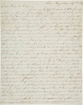 Autographs:Military Figures, [Mexican War] and [Battle of Contreras]. Soldier's Letter....