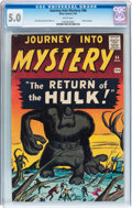 Silver Age (1956-1969):Horror, Journey Into Mystery #66 (Marvel, 1961) CGC VG/FN 5.0 Whitepages....