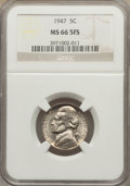 Jefferson Nickels: , 1947 5C MS66 Full Steps NGC. NGC Census: (28/0). PCGS Population (50/4). Numismedia Wsl. Price for problem free NGC/PCGS c...