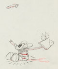 Animation Art:Production Drawing, Mickey's Rival Mickey Mouse Production Drawing Animation Art (Walt Disney, 1936). ...