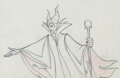 Animation Art:Production Drawing, Sleeping Beauty Maleficent with Staff Production Drawing Animation Art (Walt Disney, 1959)....