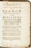 Books:Religion & Theology, Townsend, Jonathan: MINISTERS, AND OTHER CHRISTIANS EXHORTED TO BE FELLOW-HELPERS TO THE TRUTH. IN A SERMON PREACH'D AT THE ...