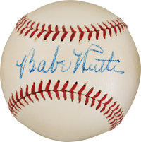 1947-48 Babe Ruth Single Signed Baseball, PSA/DNA NM-MT+ 8.5
