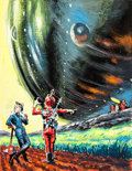 Original Comic Art:Miscellaneous, Edmund Emshwiller (Emsh) The Great Explosion PreliminaryBook Cover Original Art (1963)....