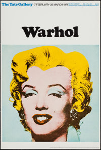 """Marilyn Monroe by Andy Warhol (Tate Gallery, 1971). British Art Gallery Poster (20"""" X 30""""). Miscellaneous"""