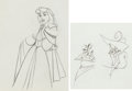 Animation Art:Production Drawing, Sleeping Beauty Briar Rose Production Drawing Animation ArtGroup (Walt Disney, 1959).... (Total: 2 Original Art)