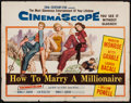 "Movie Posters:Comedy, How to Marry a Millionaire (20th Century Fox, 1953). Half Sheet(22"" X 28""). Comedy.. ..."