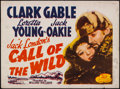 "Movie Posters:Adventure, Call of the Wild (20th Century Fox, R-1953). Half Sheet (22"" X28""). Adventure.. ..."