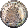 Seated Dollars, 1848 $1 MS64 PCGS. CAC....