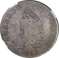 Bust Half Dollars, 1807 50C Capped Bust, Bearded Goddess, O-111b, R.5 -- Scratches --NGC Details. Fine....