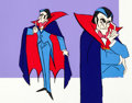 "Animation Art:Color Model, Drak Pack ""Big D"" Dracula Color Model Animation Art (Hanna-Barbera, 1980)...."