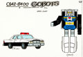Animation Art:Color Model, Challenge of the GoBots Hans-Cuff Color Model Cel AnimationArt (Hanna-Barbera, 1984). ...