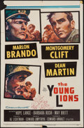 """Movie Posters:War, The Young Lions (20th Century Fox, 1958). One Sheet (27"""" X 41"""")& Lobby Card Set of 8 (11"""" X 14""""). War.. ... (Total: 9 Items)"""