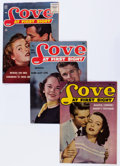 Golden Age (1938-1955):Romance, Love at First Sight/Love Experiences Group (Ace, 1953-56)Condition: Average FN.... (Total: 18 Comic Books)