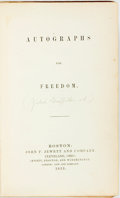 Books:Literature Pre-1900, [Harriet Beecher Stowe]. Julia Griffiths, editor. Autographs forFreedom. Boston: John P. Jewett and Company, 1853. ...
