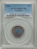 Proof Indian Cents, 1886 1C Type One PR66+ Brown PCGS....