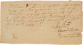 Autographs:Military Figures, [Texas Revolution]. Edward S. Burleson Sr. Military DischargeSigned...