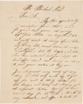 Autographs:Military Figures, George B. Erath Autograph Letter Signed...