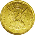 Territorial Gold: , 1853 $10 Assay Office Ten Dollar, 900 Thous. MS60 NGC. Kagin-16,Low R.6. Apparently this variety was struck at the end of ...