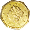 California Fractional Gold: , 1869 50C Liberty Octagonal 50 Cents, BG-907, Low R.5, MS65 PCGS. Asuitably struck apricot-gold Gem with pleasing preservat...