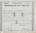 Autographs:Military Figures, [Santa Fe Expedition]. John M. Swisher Second Class Debt Certificate Signed...
