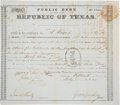 Autographs:Military Figures, [Somervell Expedition]. John M. Swisher Second Class DebtCertificate Signed...