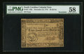 Colonial Notes:South Carolina, South Carolina December 23, 1776 $2 PMG Choice About Unc 58.. ...