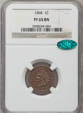 Proof Indian Cents: , 1868 1C PR65 Brown NGC. CAC. NGC Census: (3/5). PCGS Population (8/1). Mintage: 600. Numismedia Wsl. Price for problem free...