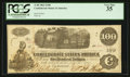 Confederate Notes:1862 Issues, Issued in San Antonio, TX T40 $100 1862.. ...