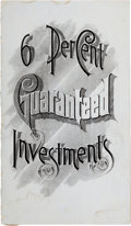 Books:Pamphlets & Tracts, [Corsicana, Texas]. Texas Loan Agency Pamphlet: 6 PercentGuaranteed Investments....