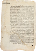 Miscellaneous:Broadside, [Republic of Texas]. General Maríano Arista Printed CircularRegarding Appropriation of Supplies and Livestock....