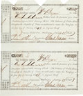 Autographs:Military Figures, [Republic of Texas]. William Bryan Certificates (2) Signed....