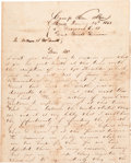 Miscellaneous:Ephemera, [Mexican War]. William Benjamin Smith Autograph Letter Signed....