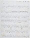 Miscellaneous:Ephemera, [Mexican War]. Soldier's Autograph Letter....